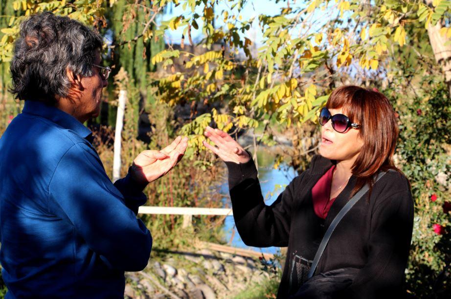 Pedro y Liliana Gomez después la entrevista