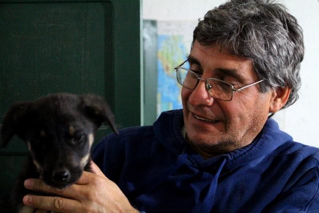 Pedro con el perro Bruno !